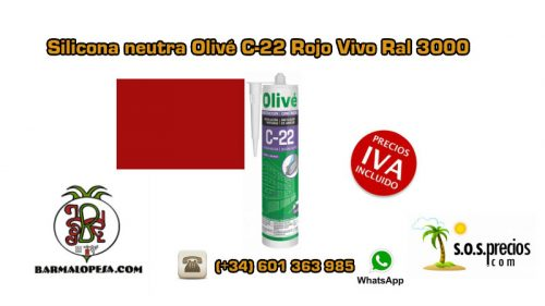 silicona-neutra-olivé-c-22-rojo-vivo-ral-3000