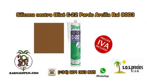 silicona-neutra-olivé-c-22-pardo-arcilla-ral-8003