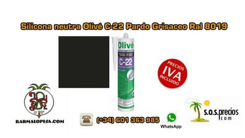 silicona-neutra-olivé-c-22-pardo-grisaceo-ral-8019