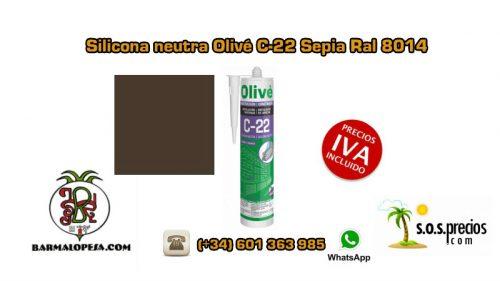 silicona-neutra-olivé-c-22-sepia-ral-8014