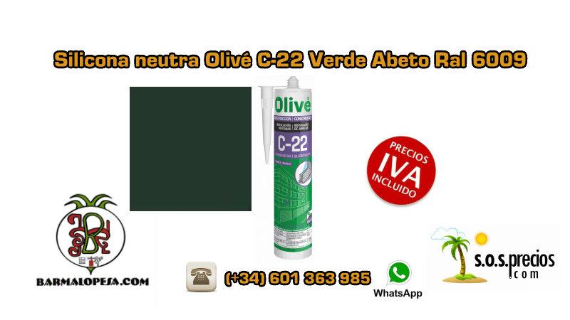 silicona-neutra-olivé-c-22-verde-abeto-ral-6009