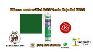silicona-neutra-olivé-c-22-verde-hoja-ral-6002