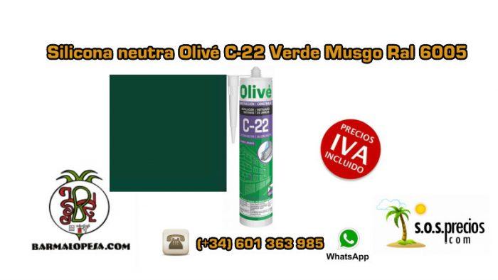 silicona-neutra-olivé-c-22-verde-musgo-ral-6005