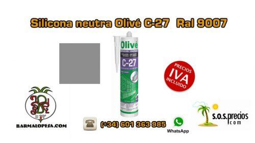 silicona-neutra-olivé-c27-ral-9007