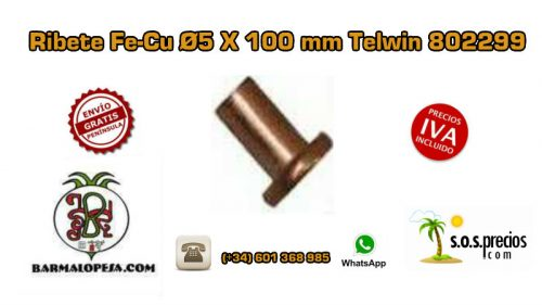 ribete-fe-cu-Ø5-X-100-mm-Telwin-802299