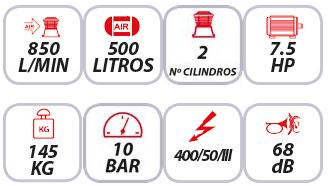 Características-del-compresor-insonorizado-Mpc-Mute-500-7.5