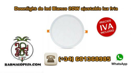 downlight-de-led-Blanco-20W-ajustable-luz-fría