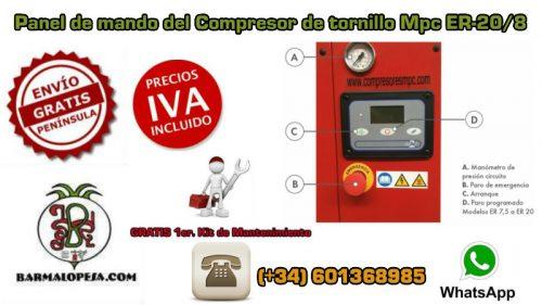panel-de-mando-del-compresor-de-tornillo-Mpc-ER-20-8-20-Hp-8-bares