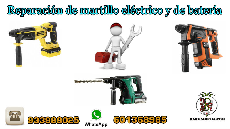 servicio-de-Reparación-de-martillo-eléctrico-y-de-batería