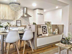 apartamento salón cocina